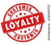 customer loyalty ink business... | Shutterstock .eps vector #636040532