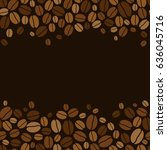 background with coffee beans | Shutterstock . vector #636045716
