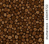 seamless background with coffee ... | Shutterstock . vector #636045722