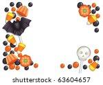 Halloween Postcard With Sweets  ...