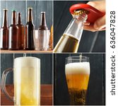 beer collage | Shutterstock . vector #636047828