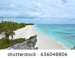 paradise beach on eleuthera... | Shutterstock . vector #636048806