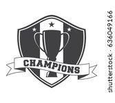 champions winner cup logo... | Shutterstock .eps vector #636049166