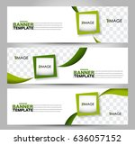 banner template. abstract... | Shutterstock .eps vector #636057152