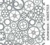 seamless pattern silhouette cut ... | Shutterstock .eps vector #636057515