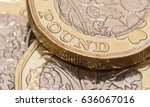 Close Up On New One Pound Coin...