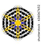 ornament on a white background. ...   Shutterstock . vector #636067652