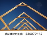 A New Build Roof With A Wooden...