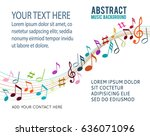 color music notes on a solide... | Shutterstock .eps vector #636071096