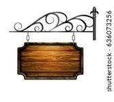 vector wooden signboard | Shutterstock .eps vector #636073256