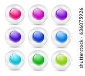 glass buttons. vector... | Shutterstock .eps vector #636075926