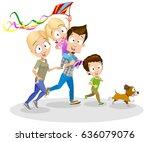 vector cartoon illustration of... | Shutterstock .eps vector #636079076