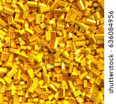 Yellow Toy Bricks Background....