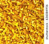 Yellow Toy Bricks Background....