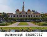 city hall in ho chi minh city | Shutterstock . vector #636087752