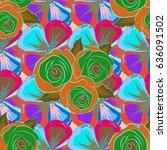 summer design. leaf natural... | Shutterstock . vector #636091502