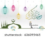 design greeting cards welcome... | Shutterstock .eps vector #636095465