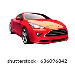 modern car illustration | Shutterstock .eps vector #636096842