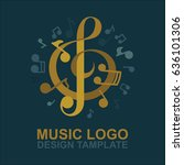 Music Key Logo Design. Musical...
