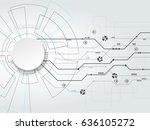 vector digital technology... | Shutterstock .eps vector #636105272