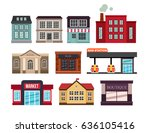 a set of various buildings and... | Shutterstock .eps vector #636105416