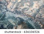 Aerial View Of Frozen Winding...