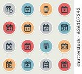 vector illustration set of... | Shutterstock .eps vector #636107342