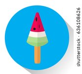 isolated popsicle on a colored... | Shutterstock .eps vector #636108626