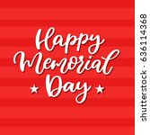 memorial day vector hand... | Shutterstock .eps vector #636114368
