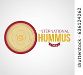 international hummus day vector ... | Shutterstock .eps vector #636124262