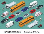 flat 3d isometric high quality... | Shutterstock .eps vector #636125972