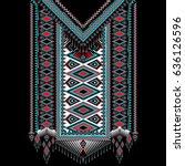 vector design for collar shirts ... | Shutterstock .eps vector #636126596