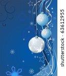 blue christmas background | Shutterstock .eps vector #63612955
