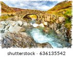 watercolor painting of stockley ... | Shutterstock . vector #636135542