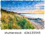 a watercolour painting of a... | Shutterstock . vector #636135545