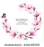 natural vintage greeting card... | Shutterstock .eps vector #636140555