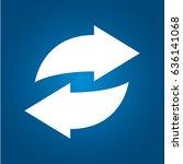 rotation arrows icon | Shutterstock .eps vector #636141068