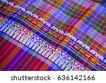 silk fabric close up of...   Shutterstock . vector #636142166