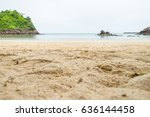 close up beach sand with blur... | Shutterstock . vector #636144458
