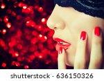 beautiful woman.make up | Shutterstock . vector #636150326