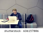startup business people working ... | Shutterstock . vector #636157886