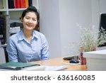 portrait of beautiful young... | Shutterstock . vector #636160085