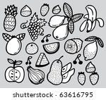 hand draw fruit | Shutterstock .eps vector #63616795