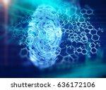 finger print scanning... | Shutterstock . vector #636172106