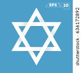 david star paper minimalist... | Shutterstock .eps vector #636172892
