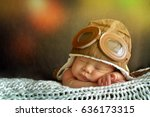 sweet little baby dreaming of... | Shutterstock . vector #636173315