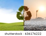 the concept of climate has... | Shutterstock . vector #636176222