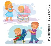 set of clip art illustrations... | Shutterstock . vector #636187472