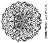 mandalas for coloring book.... | Shutterstock .eps vector #636190676