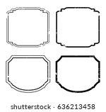 vintage label.vector grunge... | Shutterstock .eps vector #636213458